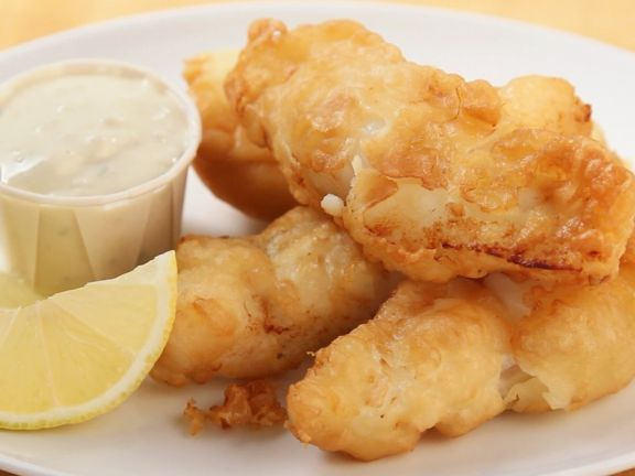 Crispy Fried Haddock Slices