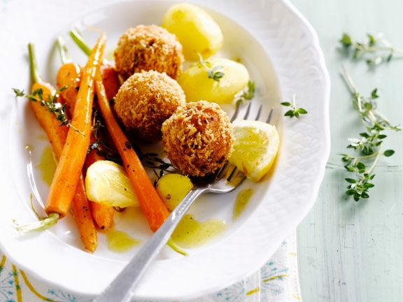 Croquettes of Crab Meat with Carrots