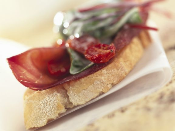 Crostini with Bresaola and Tomatoes