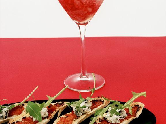 Crostini with Tomato Pesto