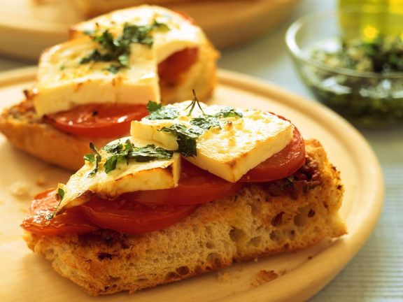 Crostini with Tomatoes and Feta Cheese