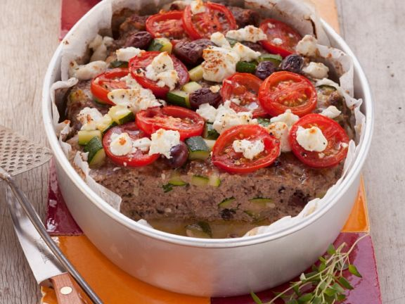 Cround Meat Gratin with Vegetables