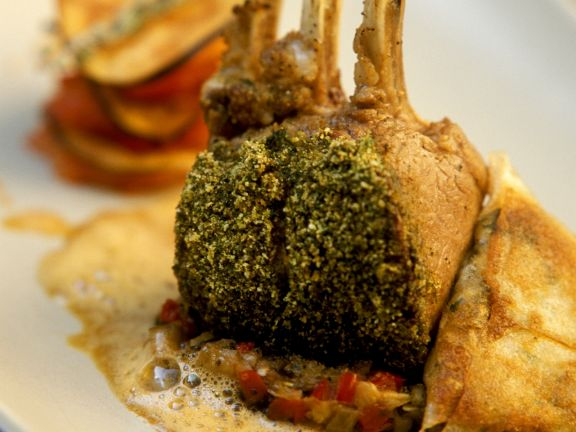 Crusted Lamb with Sauce