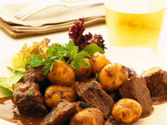 Cubed Beef Casserole with Potatoes