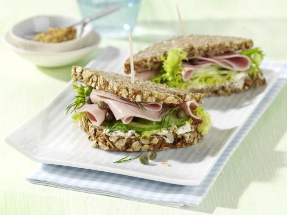 Cucumber and Sausage Sandwiches