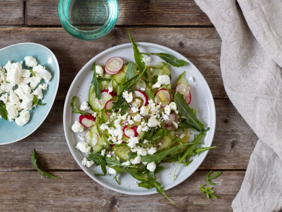 Cucumber-Radish Salad with Feta