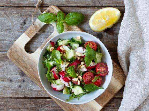 Cucumber-Radish-Tomato Salad
