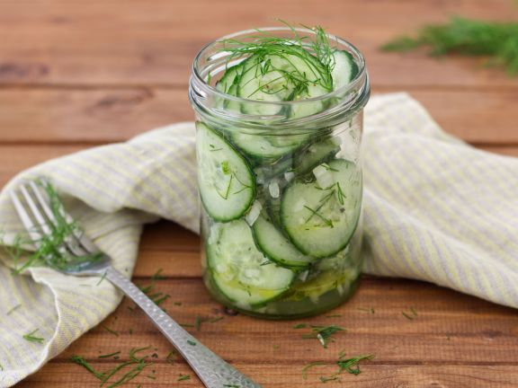 Cucumber Salad with Vinegar& Oil Dressing