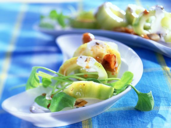 Cucumbers with Caramelised Almonds