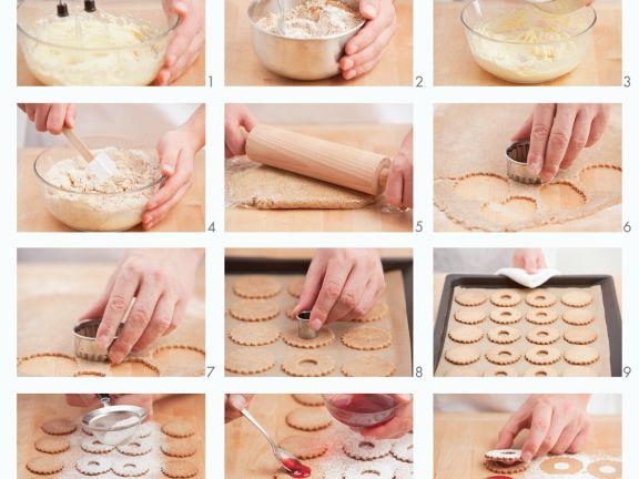 Currant Linzer Cookies