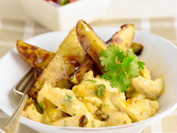 Curried Chicken with Wedges