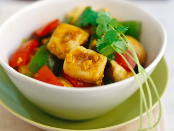 Curry Chicken with Bell Pepper
