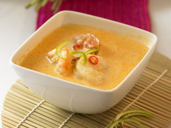 Curry Coconut Soup with Shrimp