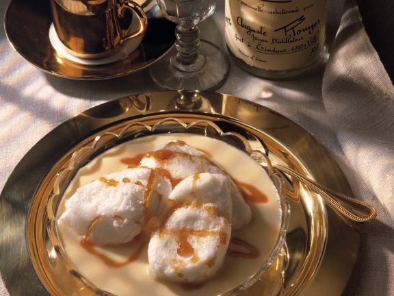 Custard with Egg White Dumplings