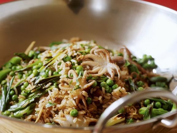 Cuttlefish Vegetable Fried Rice