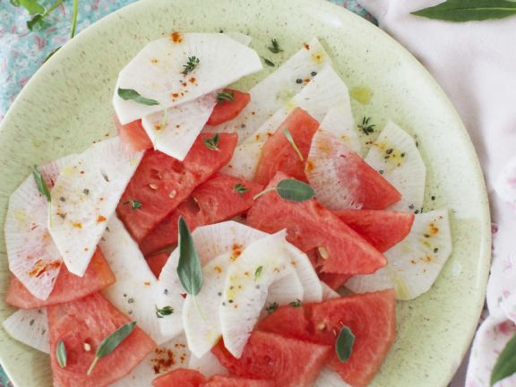 Daikon Radish and Watermelon Salad