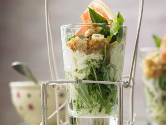 Dandelion Salad with Kohlrabi