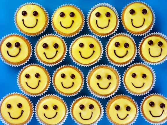 Decorated Smile Cakes