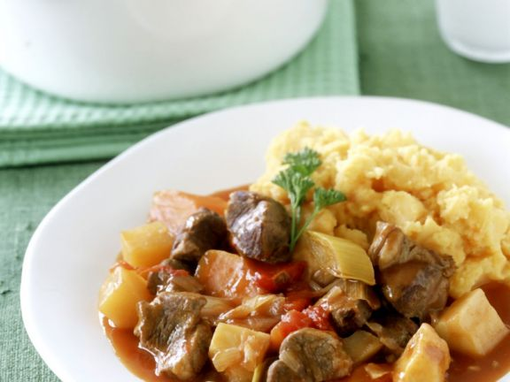 Diced Lamb and Vegetable Casserole