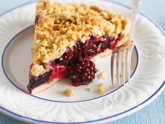 Diet mixed fruit crumble pie
