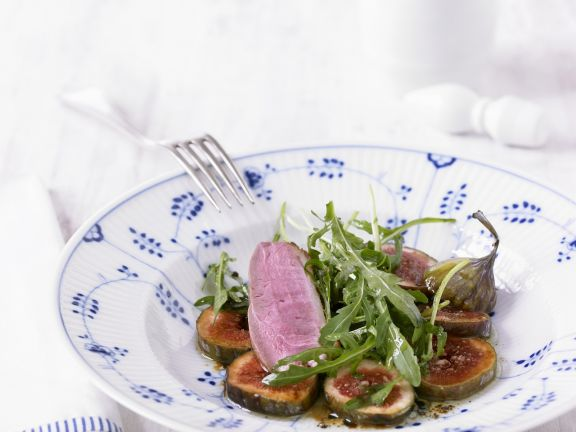 Duck Breast with Figs and Arugula