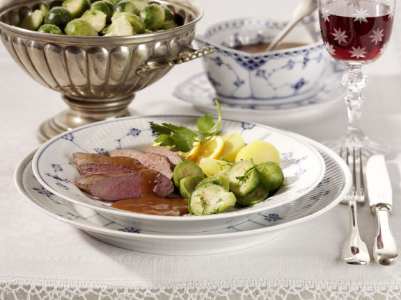 Duck Breasts with Brussels Sprouts