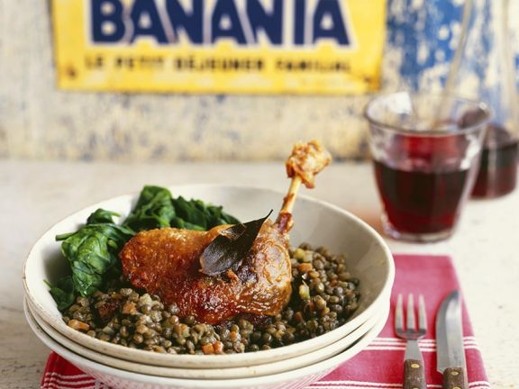 Duck Legs with Lentils
