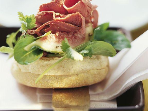 Duck Salad on English Muffins