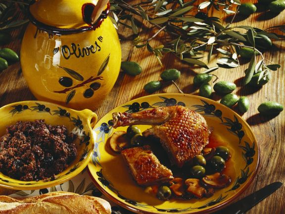 Duck Stuffed with Olives