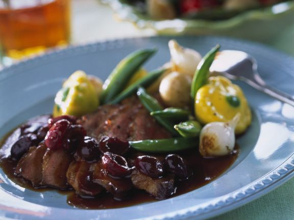 Duck with Cherry Sauce