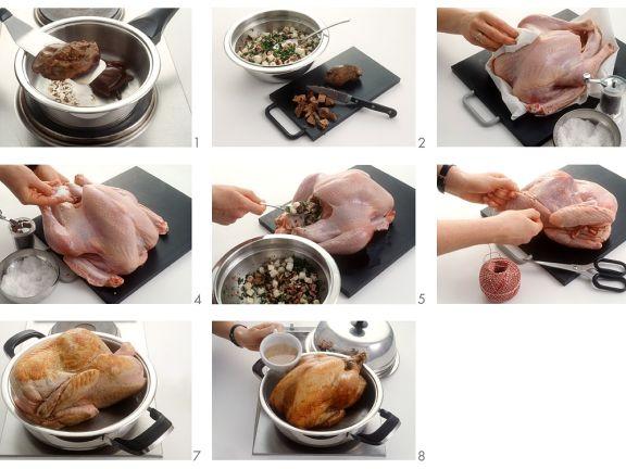 Dutch Oven Stuffed Turkey