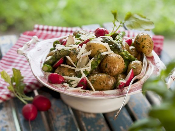 Early Potatoes with Radishes and Asparagus