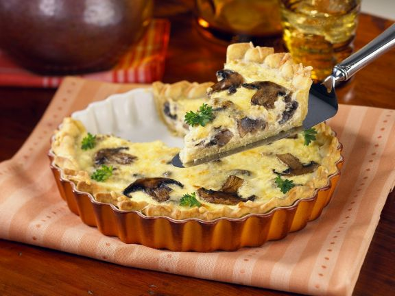Egg and Mixed Mushroom Tart