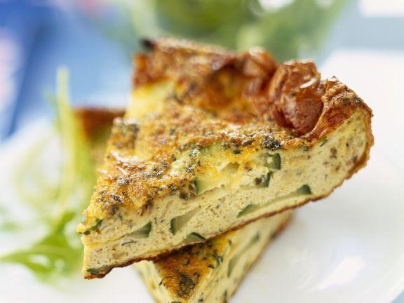 Egg And Zucchini Frittata Slice Recipe Eat Smarter Usa