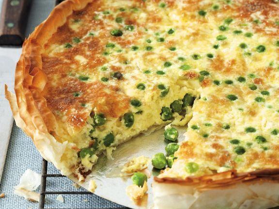 Egg, Garden, Pea, and Cheese Tarte