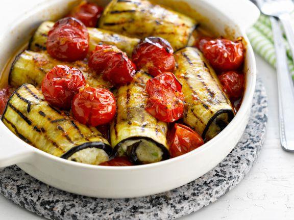 Eggplant and Tofu Rolls