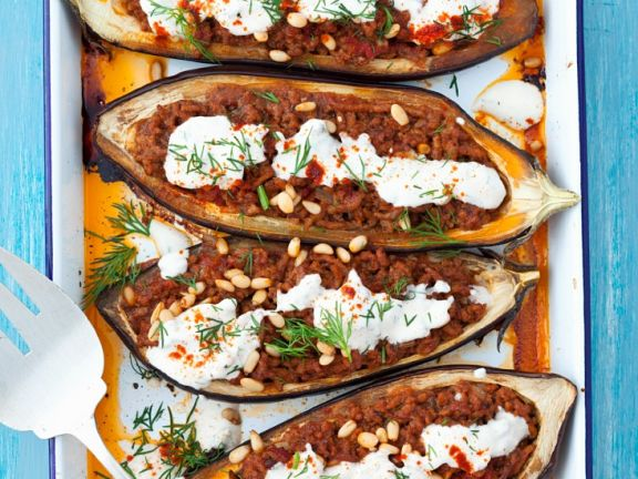 Eggplant Filled with Ground Meat