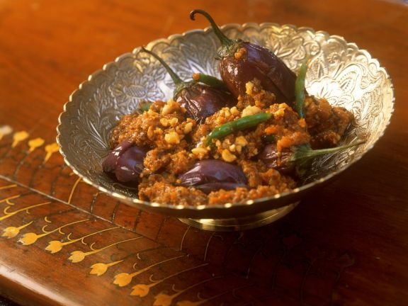 Indian Nutty Eggplant Dish