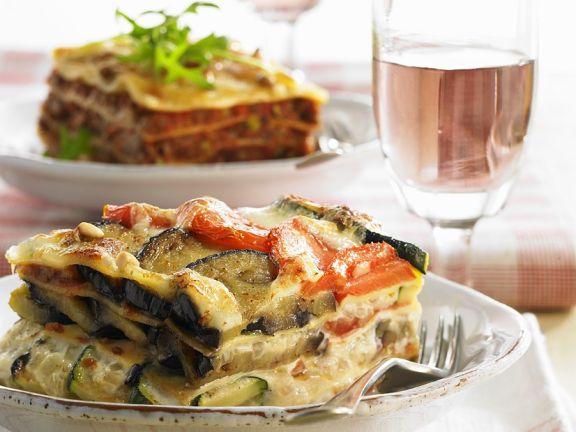 Eggplant Summer Squash Lasagna