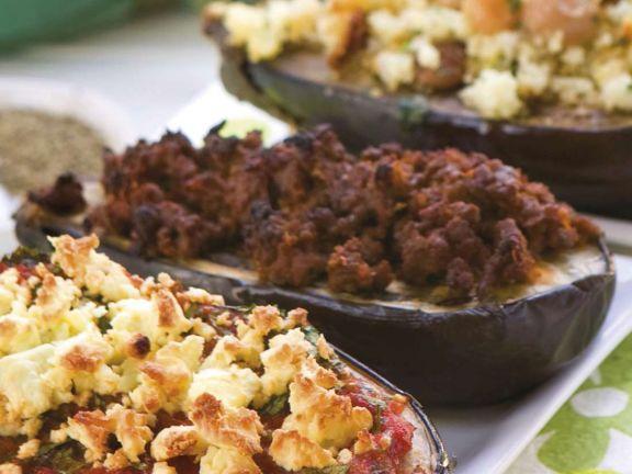Eggplants Stuffed with Ground Meat