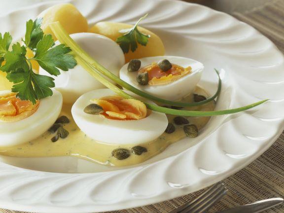 Eggs with Mustard Cream Sauce
