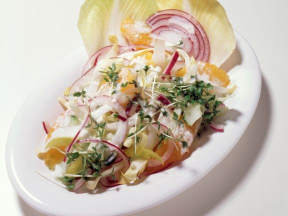 Endive Salad with Yogurt Dressing