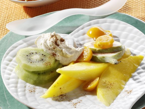 Exotic Fruit with Cream Cheese