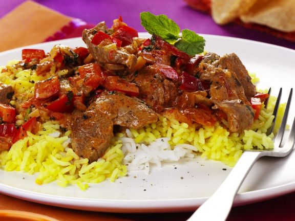 Exotic Rice with Lamb Curry