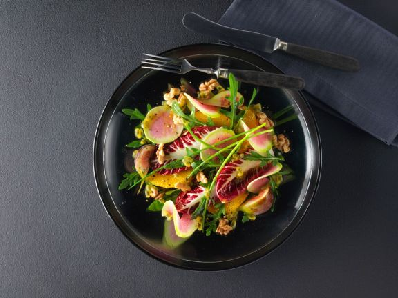 Exotic Winter Salad with Watermelon Radishes