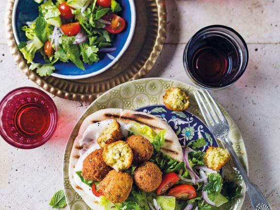 Falafel with Fresh Salad