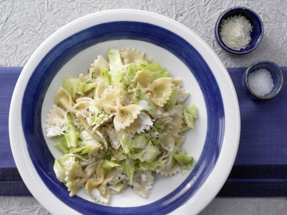Farfalle Pasta with Cabbage