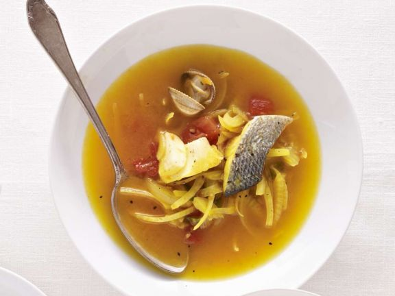 Fennel and Fish Soup with Venus Clams