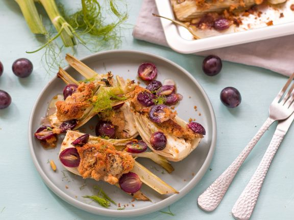 Fennel Au Gratin with Caramelized Grapes