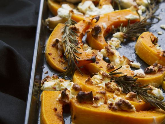 Feta and Herb Roasted Squash Slices